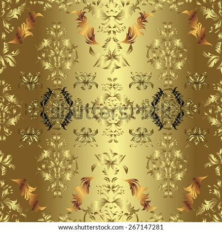 Abstract pattern, vintage gold texture - stock vector