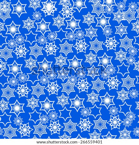 abstract pattern with snowflakes. not clipping mask. - stock vector