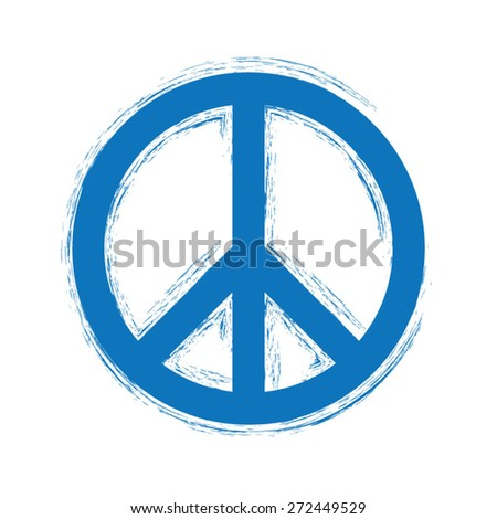 Abstract peace sign - stock vector