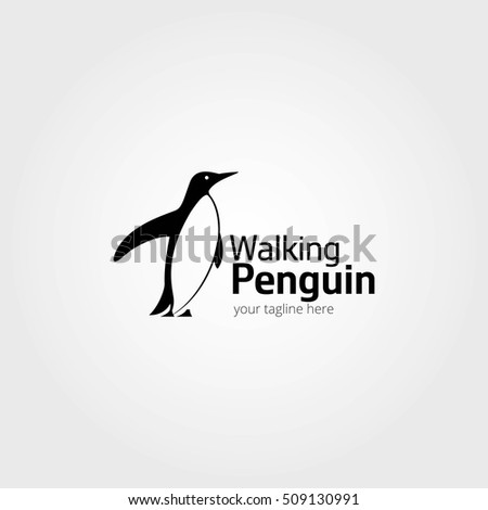 abstract penguin logo vector penguin logo design template