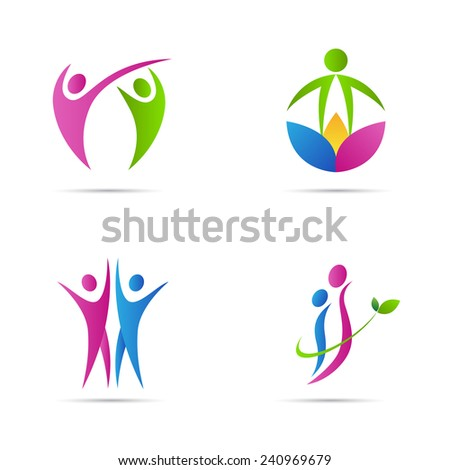 Abstract people vector design isolated on white background.