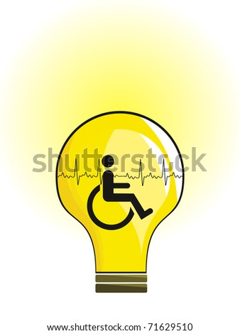 abstract person disability concept background, vector illustration - stock vector