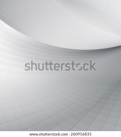 Abstract perspective background, brochure cover design. - stock vector