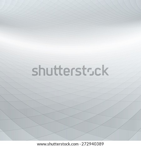 Abstract perspective background with warped squares - stock vector