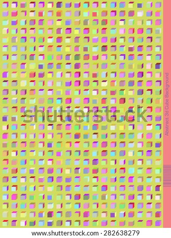 Abstract Perspective cube Pattern. - stock vector