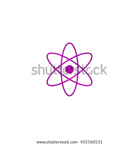 abstract physics science model icon, vector illustration. Flat design style. - stock vector