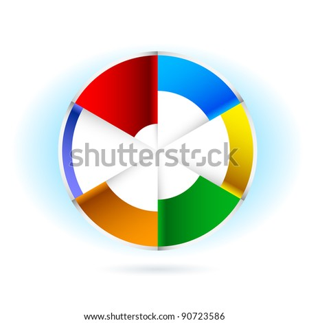 Abstract Pie chart. Illustration for design on white background - stock vector