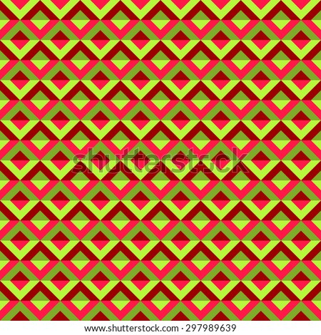 abstract pink and green geometrical seamless pattern