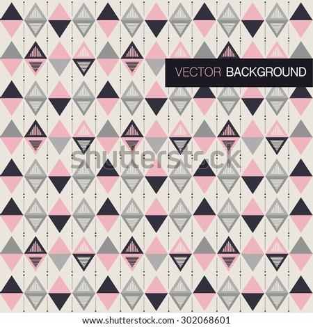 Abstract pink and grey triangle background  - stock vector