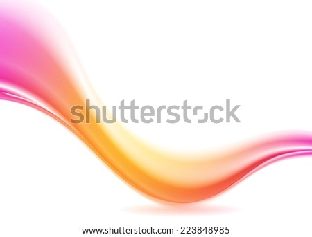 Abstract pink and orange futuristic wave. Vector design - stock vector