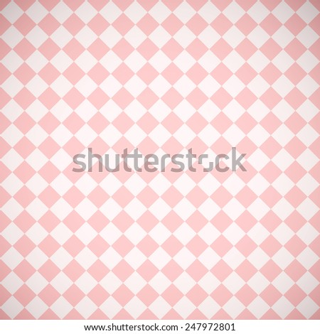 abstract pink background with square pattern (vector) - stock vector