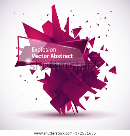Abstract pink black explosion. Vector illustration. - stock vector