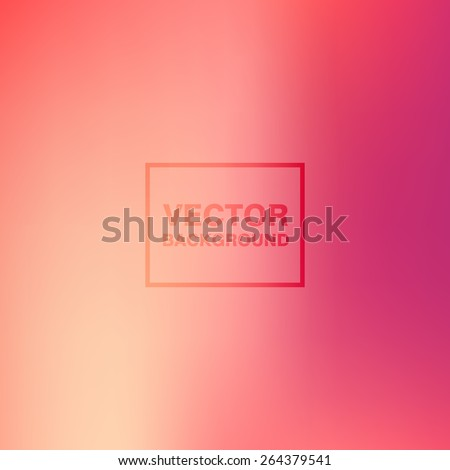 Abstract pink colorful blurred vector backgrounds. Smooth Wallpaper for website, presentation or poster design - stock vector