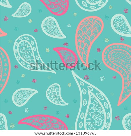 Abstract Pink Curly background - stock vector