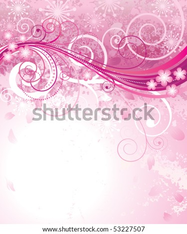 abstract pink floral background pink vector stock vector 53227507