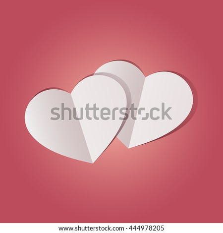 abstract pink heart paper background
