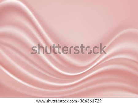 abstract pink silk background - stock vector