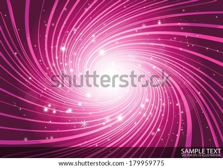 Abstract pink space vector vortex  background  - Vector pink colored vortex illustration template - stock vector