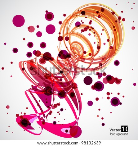 Abstract Pink Spiral Background. Vector - stock vector