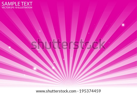 Abstract pink sun rise background vector illustration - Vector pink star burst background template - stock vector