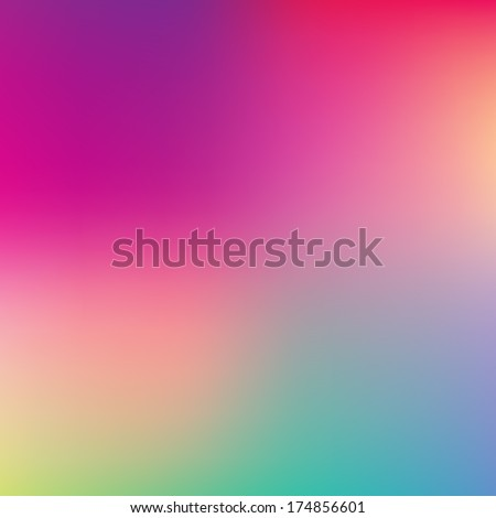 Abstract pink, teal, purple and green blur color gradient background for web, presentations and prints. Vector illustration. - stock vector