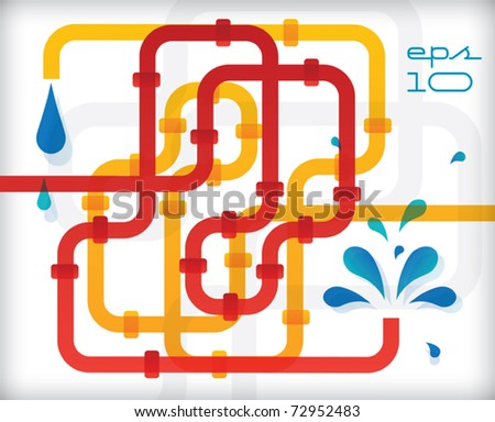 Abstract pipeline background - colorful vector illustration - stock vector