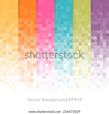 Abstract pixel background. - stock vector