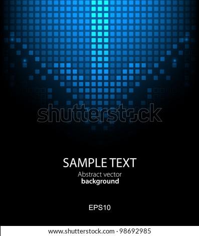 Abstract pixel background. Vector - stock vector