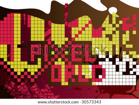 Abstract pixel background. Vector illustration. - stock vector