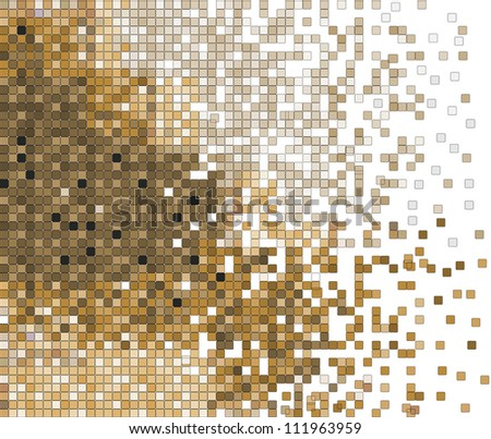 abstract pixel mosaic vector background illustration - stock vector