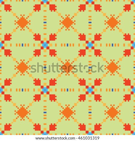 Abstract pixel pattern. Cloth design, wallpaper. Vector illustration.