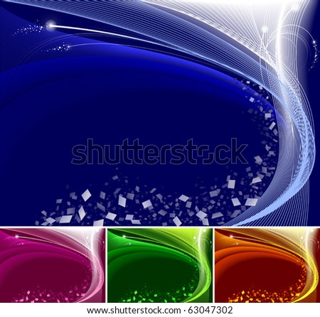 Abstract  pixels background, available in 4 colors. - stock vector