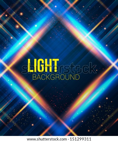 Abstract plaid background with light effects. Vector image.  - stock vector