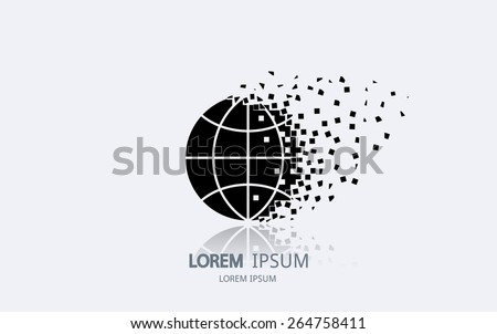 Abstract planet logo. Vector logotype design. - stock vector