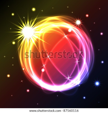 abstract plasma circle background - illustration