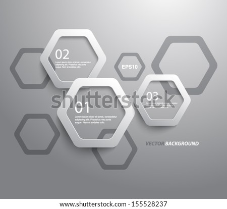 step in plastic abstract plastic hexagons panel banners business stock vector