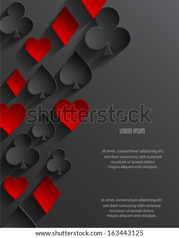 Abstract poker background. Vector eps10.