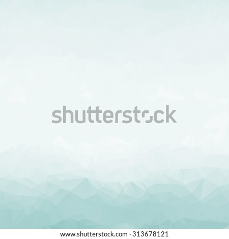 abstract  polygon background or vector frame. Triangle Geometrical  Vector Illustration EPS10. design for business presentations. luxury Christmas holiday or pale wedding blue  white smooth texture - stock vector