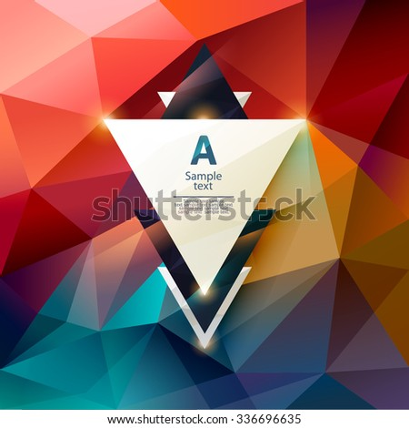 Abstract polygon background with space for text - stock vector
