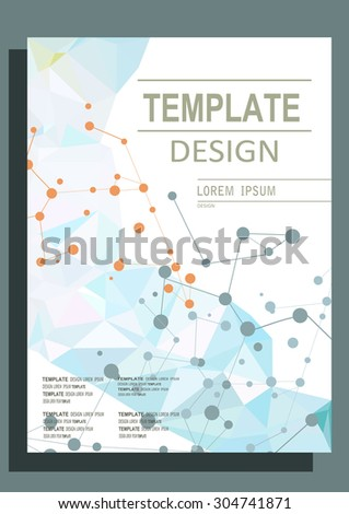 Abstract polygon design vector template layout for magazine brochure flyer booklet.Vector illustration - stock vector