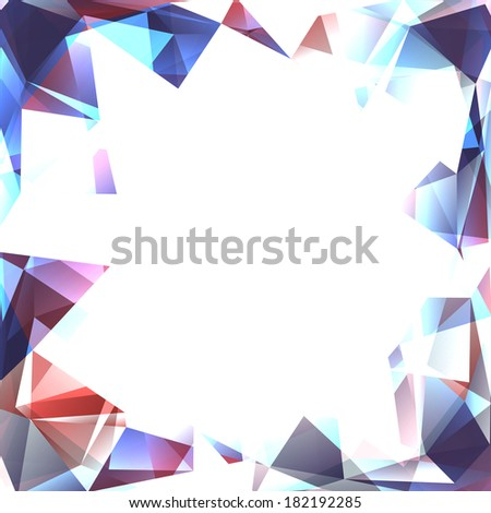 Abstract polygon frame. Surface of precious stone - stock vector
