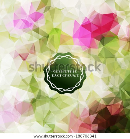 Abstract polygonal background-Floral mosaic - stock vector