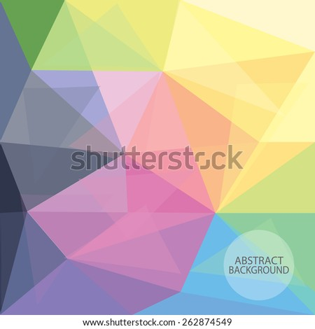 abstract polygonal background,  low poly design, hipster concept with logo, text can be edited,texture can be used for wallpaper, pattern fills, web page background,surface textures. - stock vector
