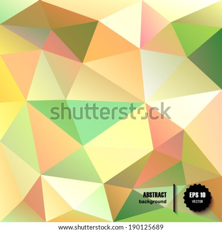 Abstract polygonal background. Vector illustration EPS10.