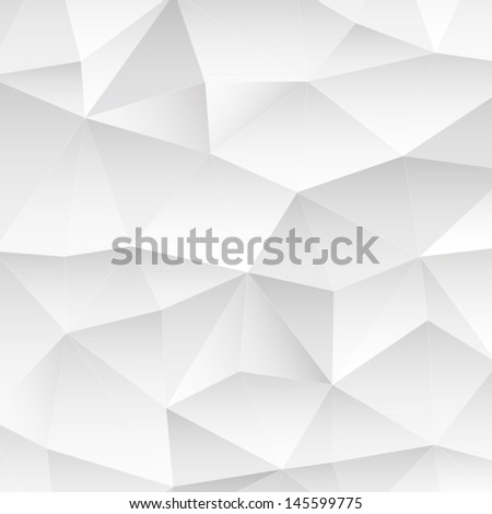 Abstract polygonal background. White triangles background for your design. Geometrical lines vector eps 10 - stock vector