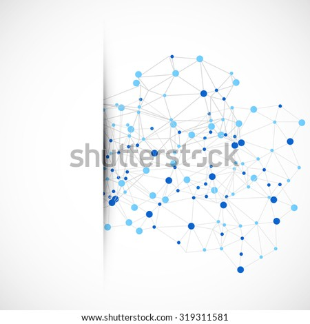 Abstract polygonal background with connecting dots and lines. Connection structure. Polygonal vector illustration. - stock vector