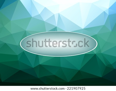 Abstract polygonal background with place for text, vector illustration - stock vector