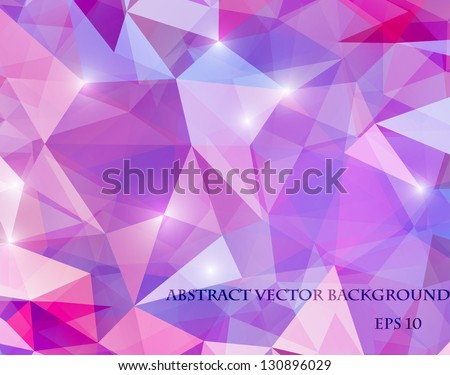 abstract polygonal bright background - stock vector