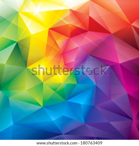 Abstract polygonal gems colors background. - stock vector
