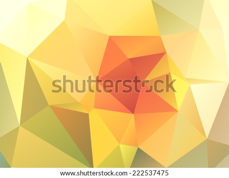 Abstract polygonal geometric background, vector illustration. - stock vector